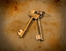 Keys photographed in fine art style