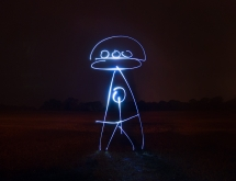 Light drawing photography