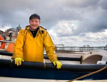 Cromer fisherman in his boat