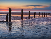 Brancaster beach at sunset Norfolk