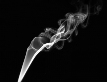 Black and white smoke